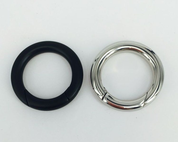 38mm inner diameter Hang Nickel Electrophoresis black Stainless steel snap <strong>hook</strong>