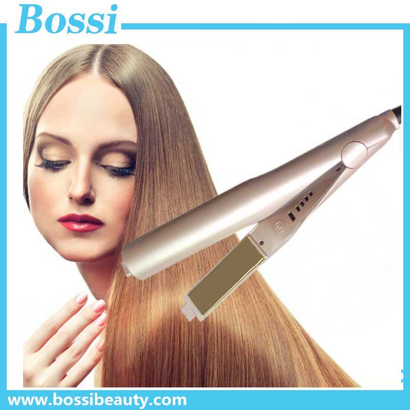 Hot sell iron hair straightener for curl and straighten 2 in 1 curling iron