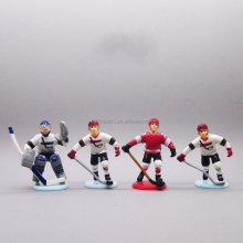 hockey player pvc figurine, custom hockey game pvc figure, make hockey sport play pvc figure