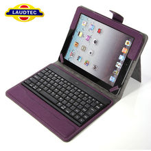 2013 New Arrival Bluetooth Wireless Detachable Keyboard Folding Leather Case Cover for iPad Air 5 Laudtec
