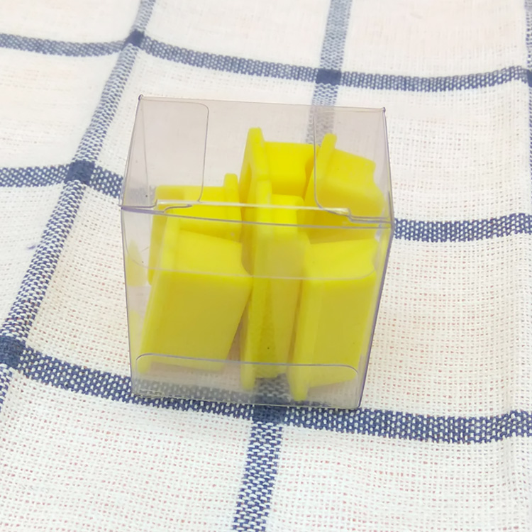 Hot selling custom mini plastic square clear box pvc box transparent