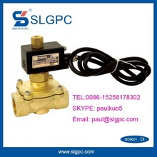 Brass valve body normally open explosion proof solenoid valve coil SLGPC-2W250-25NO-E