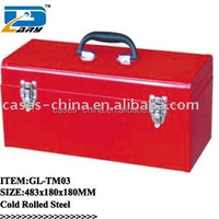 stainless red steel tool box