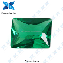 synthetic spinel green rectangle stone