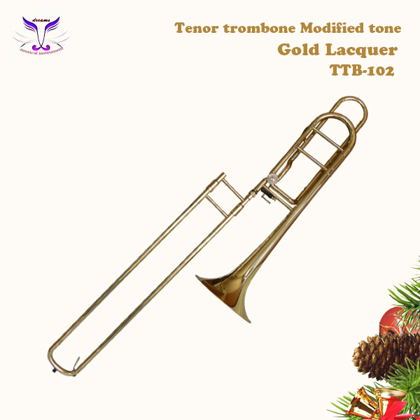 Soprano trombone with music event partner