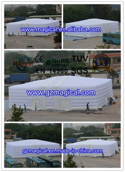large inflatable cube/ cube tent/ white inflatable cube