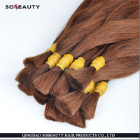 New Arrival Wholesale Price Unprocessed Virgin Full Cuticle human hair bulk russian blonde