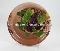 plastic grape and round tray
