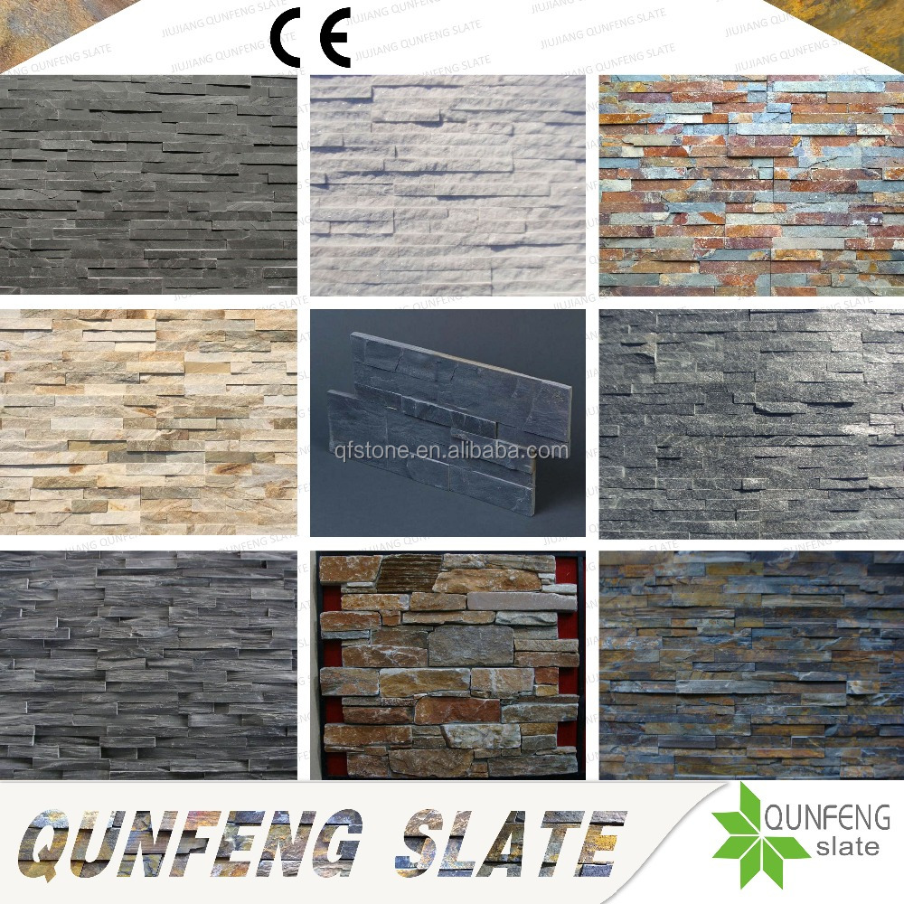 CE Passed Split Surface Antacid Natural Wall Slate Cultured Stone Veneer Lowes