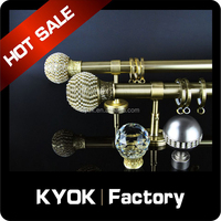 KYOK Windows design Curtain Accessories Curtain Poles ,Double swivel curtain pole