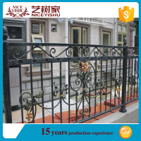 High quality beautiful strong warehouse fence, steel tube fence panels, fence post cap