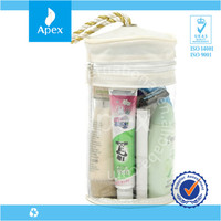 clear pvc round cosmetic gift bag