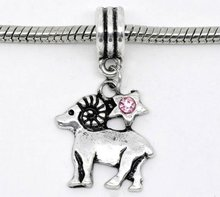 Rhinestone Aries Dangle Beads Fit Charm Bracelet