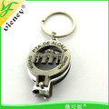 OEM Wholesale Custom Nail Clipper Keychain With Bottle Opener Function