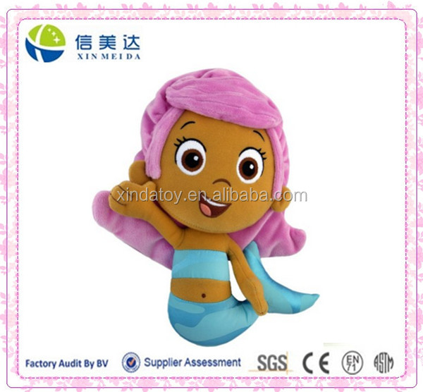 Plush Handmade Mermaid toy Molly Bubble Guppies soft toy