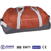 promotional simple orange sport duffle bags travel gym holdall bag