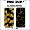 Golden Pineapple custom phonecase for iphone7 case 7 Plus TPU soft transparent clear UV Case for iphone 6s 7 black cases