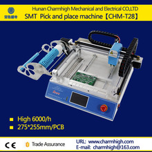 Discount CHMT28 Small Desktop Pick and Place Machine with SMT Prototyping pick place machine Charmhigh 110v 220v