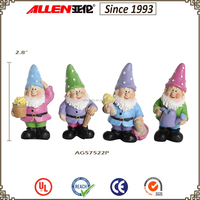 "2.7"" factory direct polyresin garden small gnome figurines"