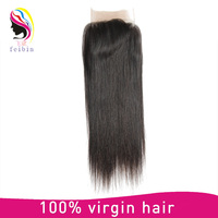 Virgin Brazilian hair body wave cheap human hair lace closure 3 part middle part free parting lace closure