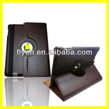 Rotating PU Leather Case for iPad 4 3 2 Smart Cover w 360 Degree Magnetic Swivel Stand for Apple iPad Accessories Brown