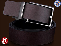 Double Real Leather Belt Second Layer Cow Split Leather with Reversible Buckle