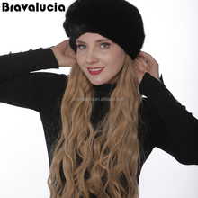 Fashion New Style Russian Woman Winter Mink Fur Hats With Factory Price Comfortable