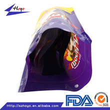 High quality ziplock dog treats plastic packaging bags/ High quality ziplock dog treats printing plastic packaging bags/