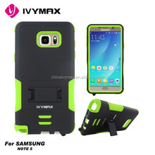 Anti shock mobile phone case for Samsung note5 /N9200 cellphone case