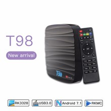 Android Tv Box Cast 2Gb Ram Rk3328 Android Tv Box Internet Tv Box for South Africa market T98