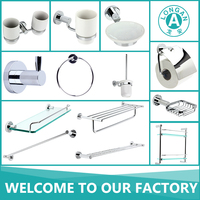 factory hotel accessories 13 pcs chrome brass 304 stainless steel bathroom accessory set