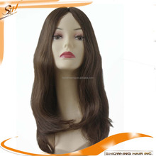23inch long hair high quality silk top Jewish wig kosher wigs
