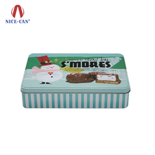 Tinplate Food Grade Safe Chocolate Bread Storage Tin Case Wholesale Cheap Large Rectangle Gift Packaging Tin Metal Chocolate Box