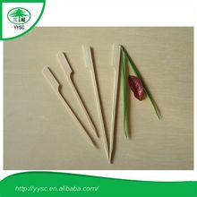 Promotional Newest party bamboo food picks paddle skewers