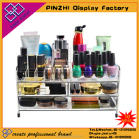 Clear acrylic makeup & jewelry organizer cosmetic crystal box
