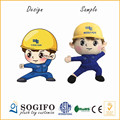 China Southern Power Grid Customize short floss fabric plush stuffed worker doll