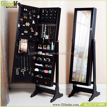 Wooden mirror jewelry cabinet decoration home more modern and beautiful
