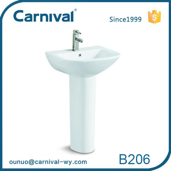 Easy Installation chinaware pedestal washing basin B206