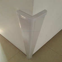 High quality acrylic decorative wall corner guard/ corner protector with round hole