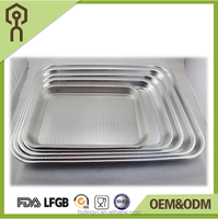 China supplier, large size aluminum food foil metal food serving tray, plate