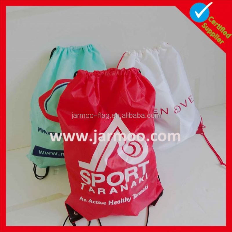Customized logo polyester travel cosmetic string bag