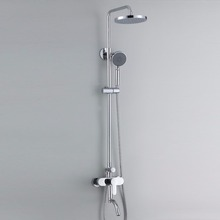 Stylish diverter bathroom shower faucet set with three function shower gead