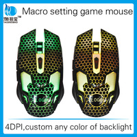 Color custom Macro Definition 2500 DPI USB Wired Gaming Mice Mouse