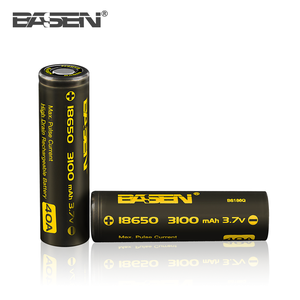 Guangzhou INR 3.7V 3100mAh Rechargeable Lithium Li-ion Lipo 18650 3.7V Battery for vape mod