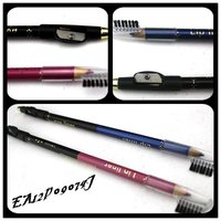2012 new style waterproof colored eyeliner pencil with sharpener&comb