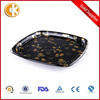 Square Black Disposable Plastic Food Tray