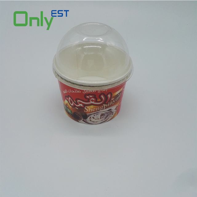 Double wall high quality pink color biodegradeable ice cream cup