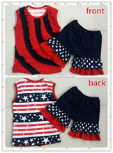 Kids Girls July 4th Day Clothes Sets Children Patriotic Independence Day Outfits Boutique 4th Of July clothing Sets