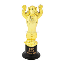 China Supplier High Quality Cheap Custom Plastic Top Dog Award Trophies with Dog Shape Trophy Cup