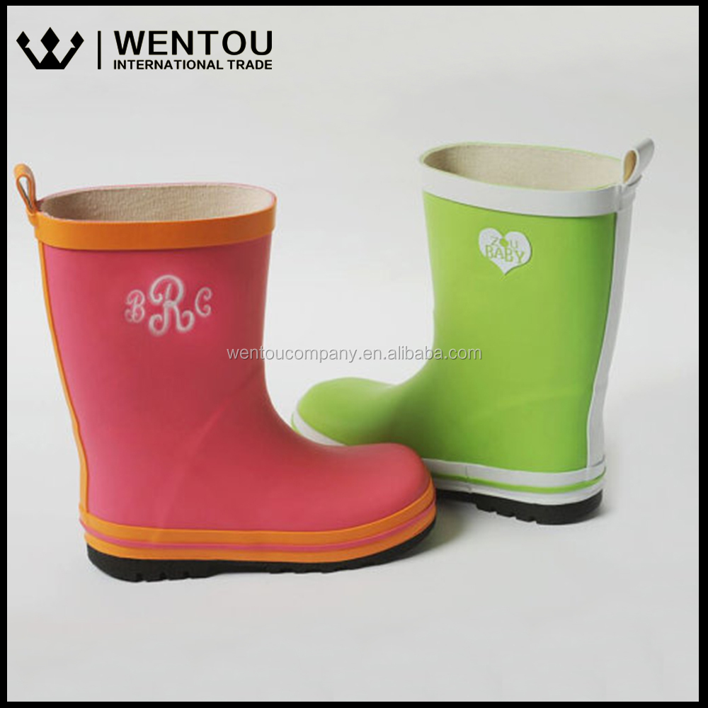 Personalized Retro Vintage Rubber Children's Monogrammed Rain Boots